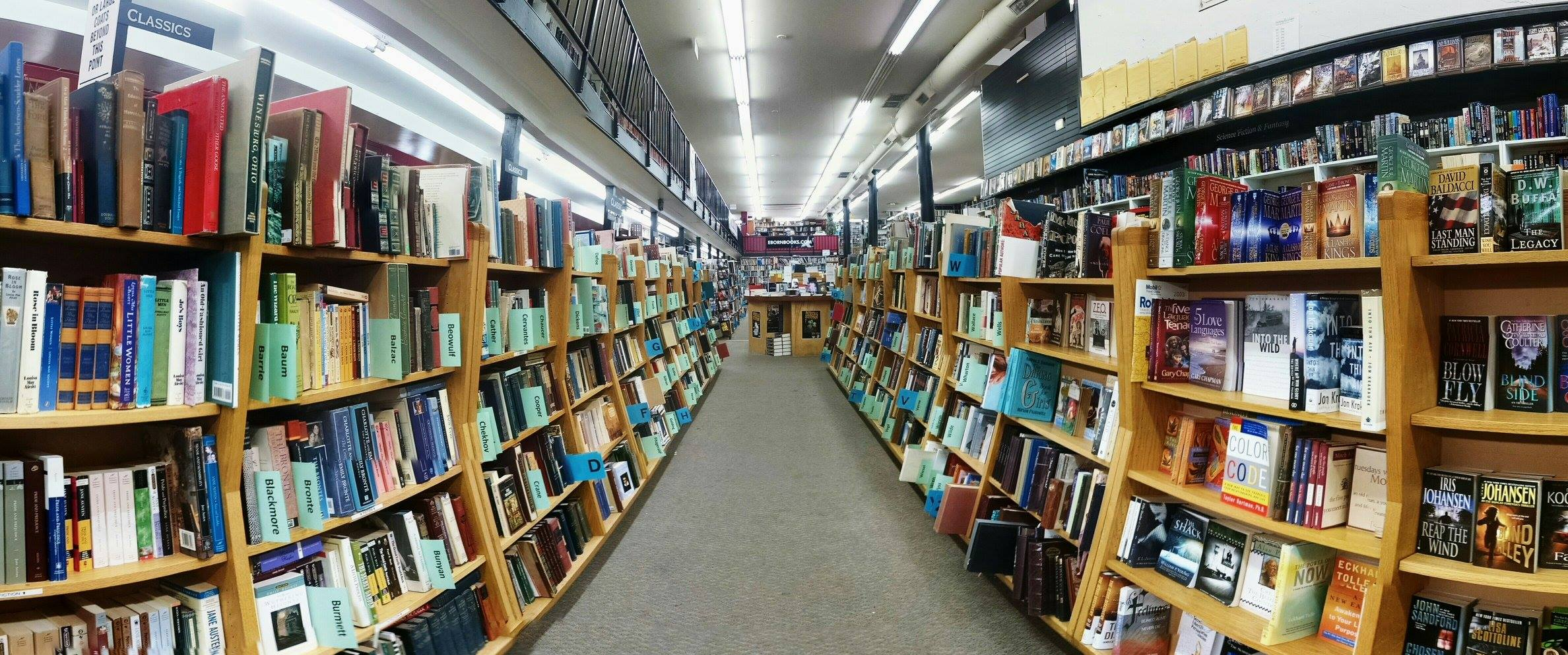 Inside Eborn Books downtown Salt Lake City Utah