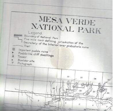 Mesa Verde National Park Map - Eborn Books on