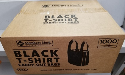 Black T Shirt Carry Out Bags Box Of 1 000